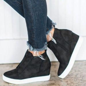 Shoes - Black wedge sneakers